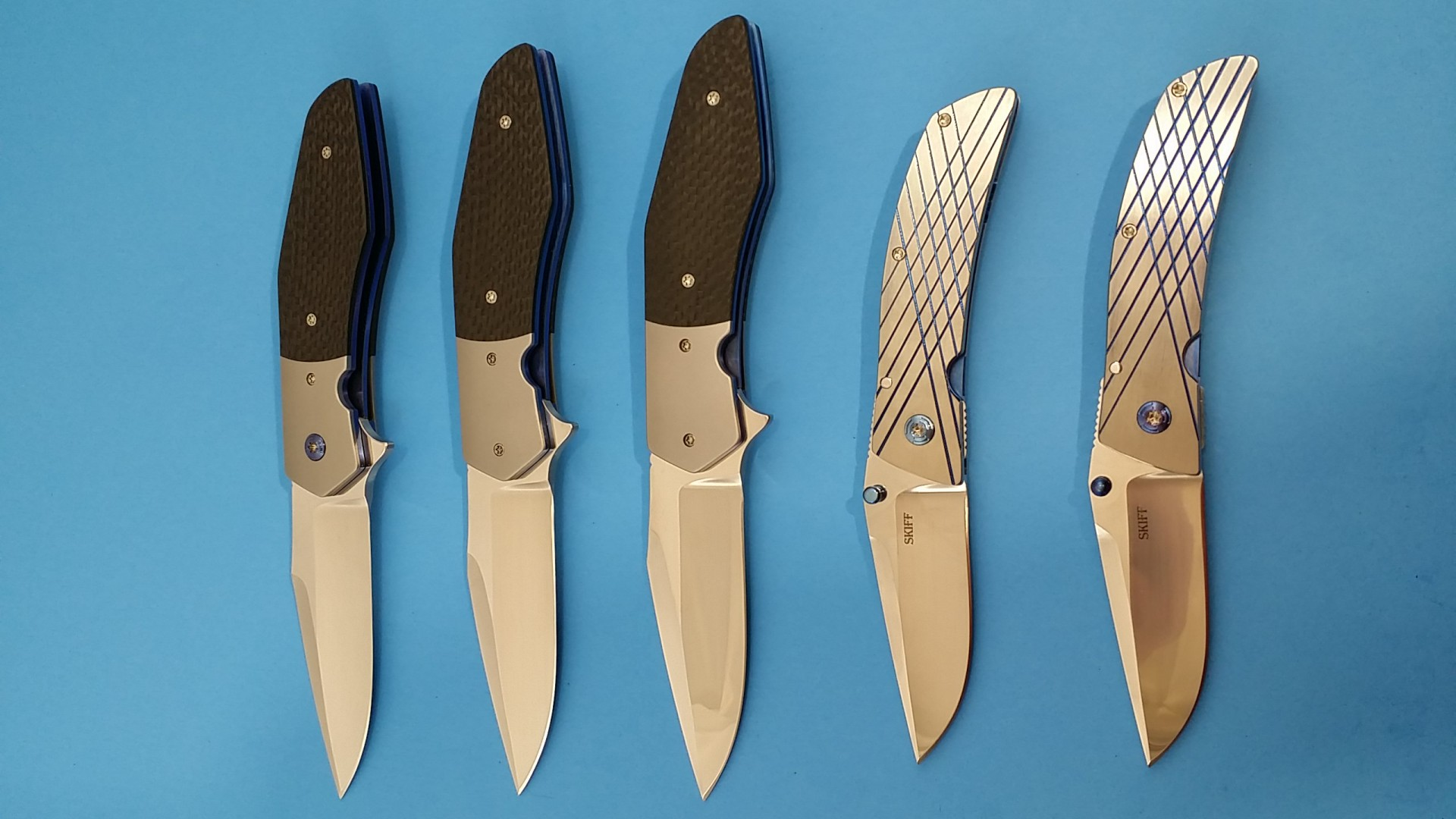 Steven Skiff Knives group shot